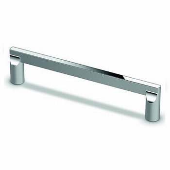 Greep Cabo - glanzend verchroomd - L 140 mm<br />Per stuk