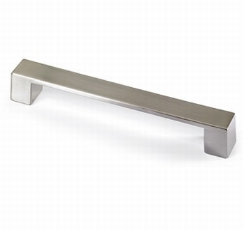 Greep Cheam - zink edestaal finish - L 227 MM<br />Per stuk